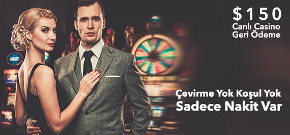 150$ Canlı Casino Geri Ödeme
